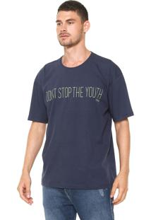 Camiseta Triton Estampada Azul Marinho