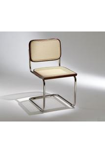 Cadeira Cesca (Sem Braço) Tonalizada Castanho Opção De Madeira