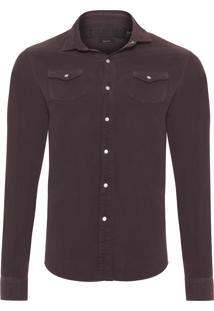 Camisa Masculina Veludo Cotelê - Cinza