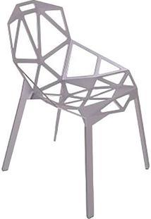 Cadeira One- Prata- 81X57X55Cm- Falkkfalkk