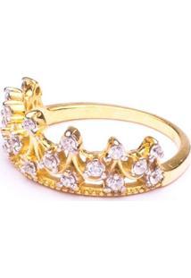 Anel Boca Santa Semijoias Princesa Real Falange Ouro Amarelo