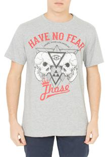 Camiseta Drope Jhose Heave No Fear Cinza