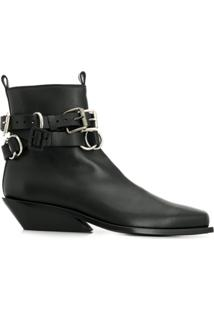 Ann Demeulemeester Buckled Ankle Boots - Preto