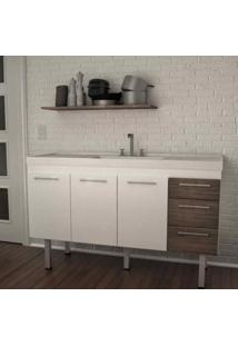 Gabinete De Cozinha Hamal 2073 53X144Cm Branco E Munique Cerocha