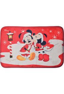 Tapete Mickey & Minnieâ®- Vermelho & Branco- 1X60X40Ccromus