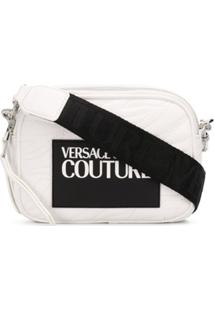 Versace Jeans Couture Logo Patch Cross-Body Bag - Branco