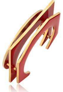 Bracelete Esmaltado Le Diamond Marsala