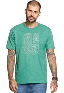 Camiseta Manga Curta Vlcs 18500 Masculina - Masculino-Verde