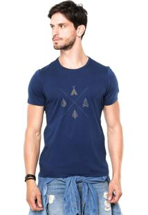 Camiseta Rgx Camping Azul
