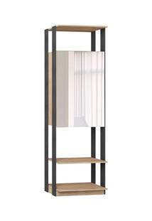 Guarda Roupa Closet Clothes 1007 2 Portas Com Espelho Carvalho/Espress