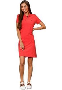 Vestido Polo Seeder Priquet Feminino - Feminino-Vermelho