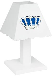 Abajur Belly Coroa Marinho Mdf - Azul Marinho - Clássicos