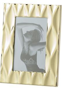 Porta Retrato Lyor De Aço Diamond Dourado