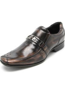 Sapato Social Couro Rafarillo Fivela Bronze