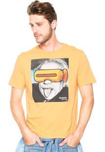 Camiseta Cavalera Einsten Amarelo
