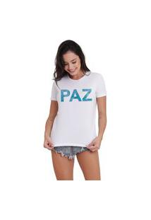 Camiseta Jay Jay Basica Paz Branca Dtg