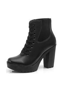 Bota Navit Shoes Tratorada Ajuste Elástico Preta