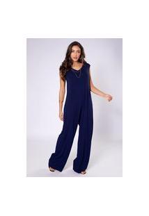 Macacão Preview Pantalona Azul