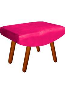 Puff Decorativo Josy Pés Palito Suede Pink - D'Rossi