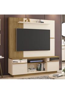 Estante Para Tv Até 60 Polegadas Aruba 2 Portas Com Espelho Off White/Cinamomo - Móveis Bechara