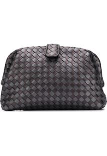 Bottega Veneta Woven Texture Clutch Bag - Cinza