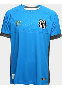 Camisa De Goleiro Santos I 2018 S/N° Torcedor Umbro Masculina - Masculino