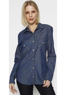 Camisa Jeans - Azul Escuro- M. Officerm. Officer