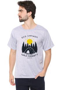 Camiseta Eco Canyon Wild Forest Cinza
