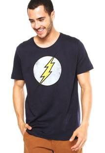 Camiseta Fashion Comics Flash Azul Marinho