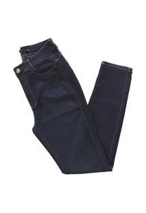 Calça Miller Original Feminina Cintura Alta Modela Bumbum Azul Escuro