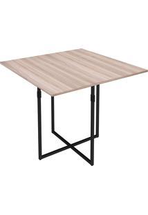 Mesa Para Sala De Jantar Em Aço Quadrada Teka-Brastubo - Carvalho / Preto