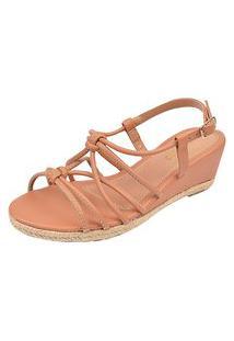 Sandálias Tiras Chyrrô Calçados Anabela Blush