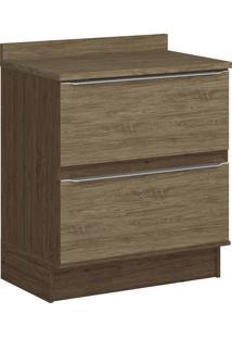 Balcão Com Rodapé Decibal Lis 4032R 2 Gavetas Cedro E Wood