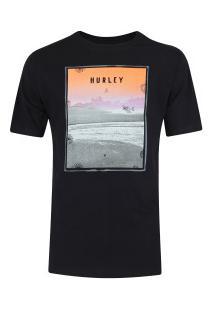Camiseta Hurley Silk Sted Fast - Masculina - Preto
