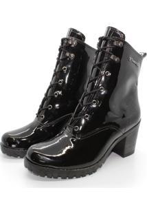 Bota Barth Shoes Wind Verniz - Preto - Preto - Feminino - Dafiti