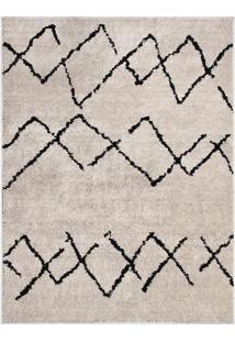 Tapete Art- Off White & Preto- 200X150Cm- Oasisoasis