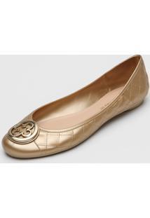 Sapatilha Capodarte Logo Dourada - Dourado - Feminino - Dafiti