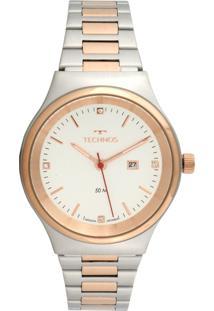Relógio Technos 2015Ccb/5K Prata/Rosa
