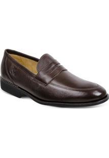 Sapato Em Couro Veneza 220220 - Masculino-Café