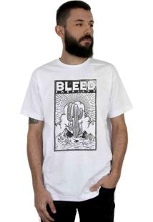 Camiseta Bleed American Cactus Branca
