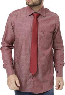 Camisa Di Marcus Manga Longa Masculina - Masculino-Vinho