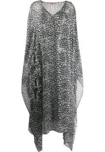 Ermanno Scervino Vestido De Oncinha Com Transparência - Preto