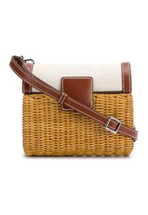Rodo Straw Shoulder Bag - Marrom