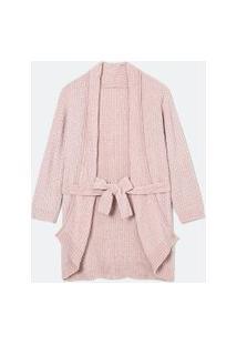 Robe Manga Longa Em Tricô Chenille | Lov | Rosa | U