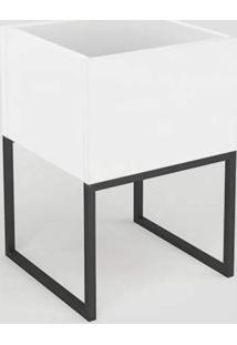 Cachepô Hover Ornament Manfroi Alumínio Polido/Branco/Preto