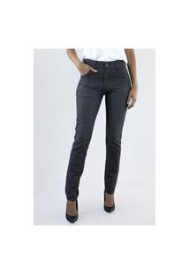 Calça Jeans Feminina Premium Preta Suiça