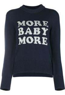 Christopher Kane Suéter 'More Baby More' - Azul