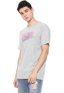 Camiseta Fiveblu Manga Curta Lettering Cinza