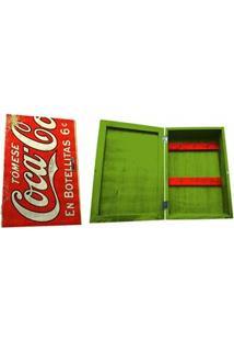 Porta-Chave Urban Coca-Cola Madeira Com Porta Em Botellitas