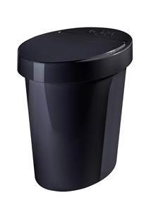 Lixeira Coza Oval Retrô Poliestireno 5 Litros – Preto